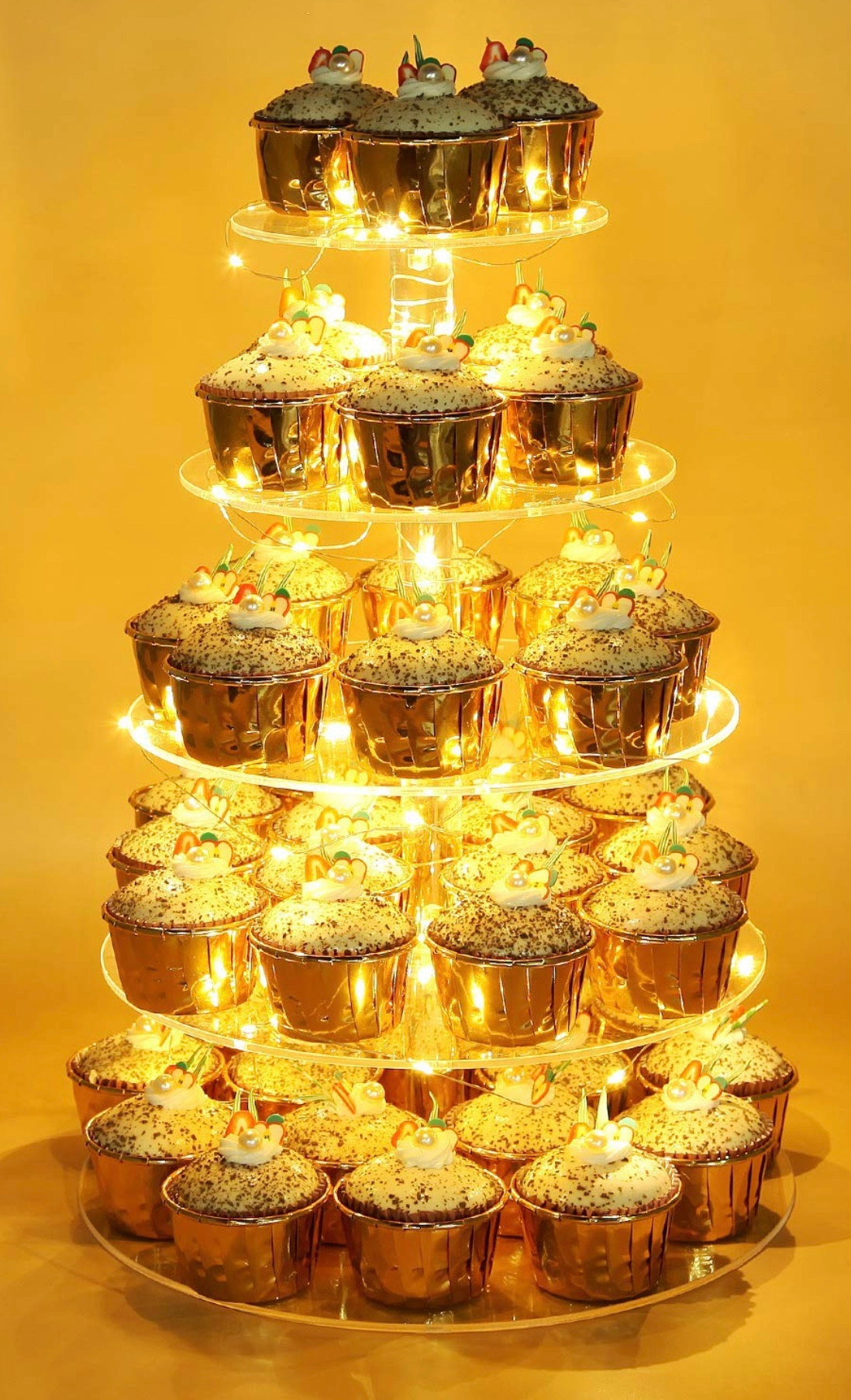 5-tier Round LED Cupcake Stand