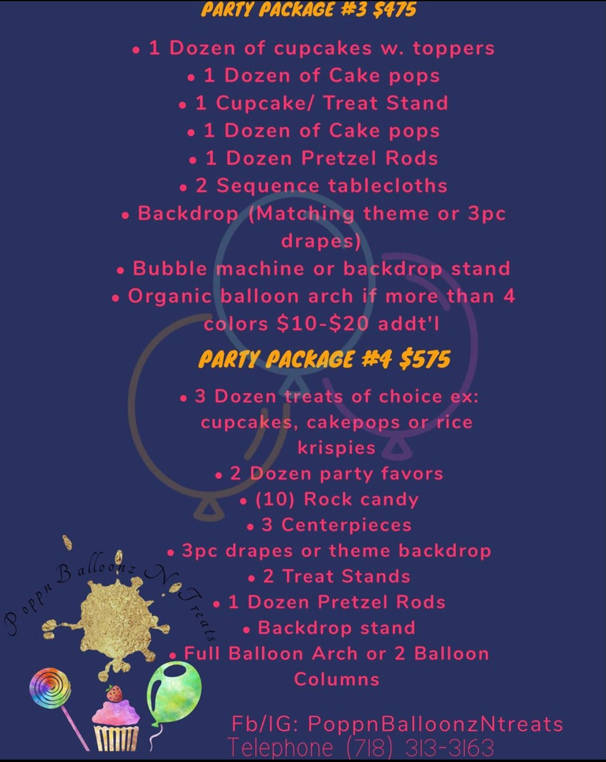 Party Package #3 or #4