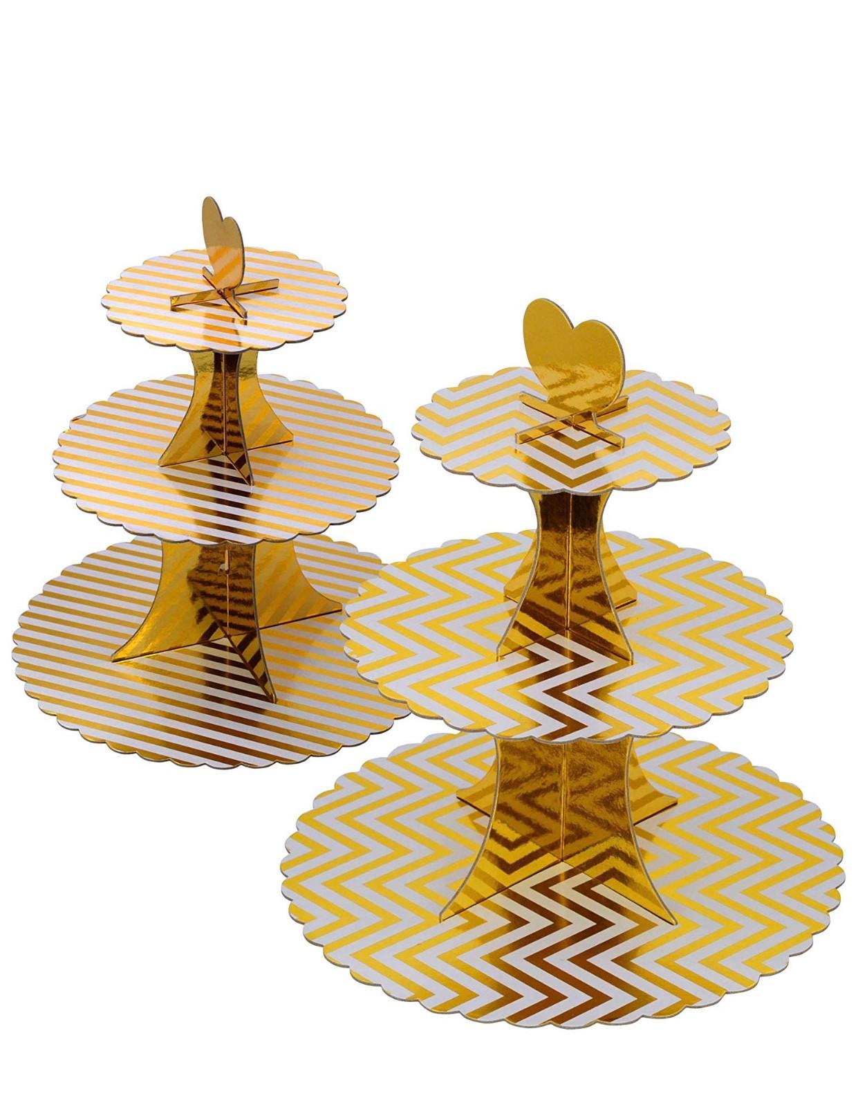 Gold CardBoard Cupcake stand (2)