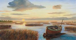 Red Boat in Marsh