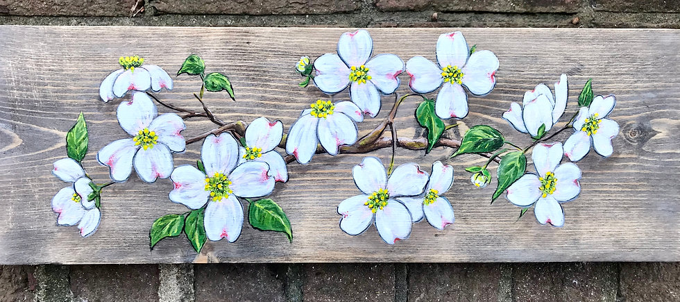 Commissioned Work -Dogwood on a Cross - SOLD