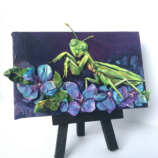 Commissioned Work - Praying Mantis SOLD