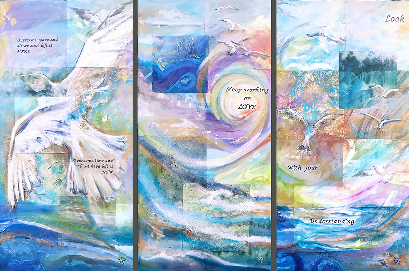 Jonathan Livingston Seagull triptych