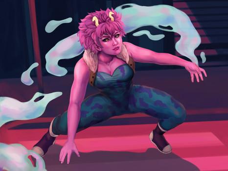 Fanart of Mina Ashido from My Hero Academia.