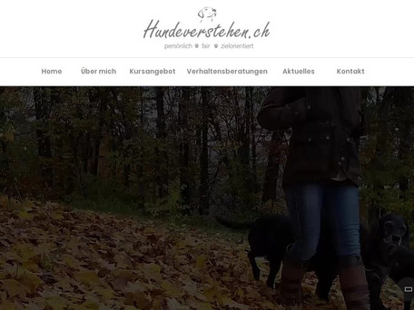 Meine Webseite erscheint im neuen Design