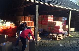 De hulpactie in Kampen in 2014