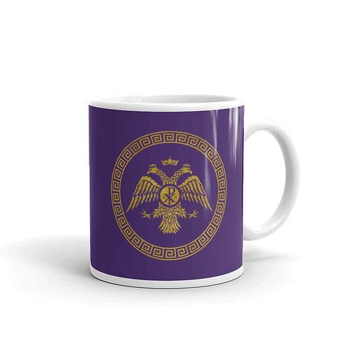 Purple glossy mug - Byzantine Flag
