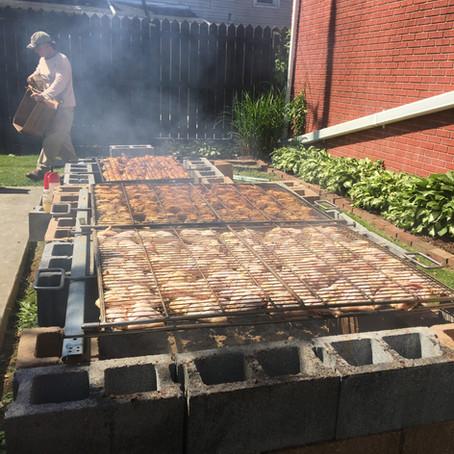 Chicken B-BQ and Pork Sandwiches