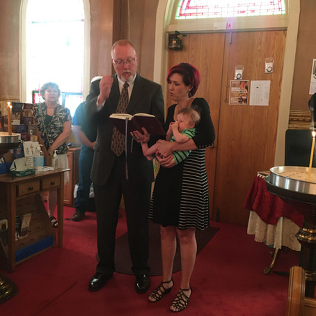 Baptism of Sterling Maximus
