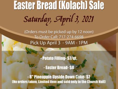 Potato Filling & Easter Bread (Kolach) Sale