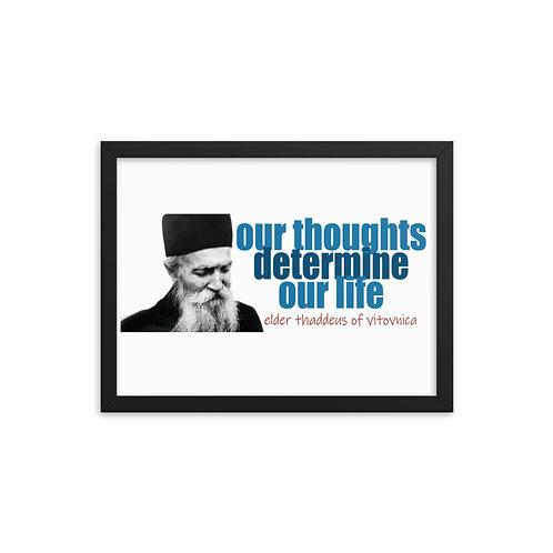 Framed poster Elder Thadeus