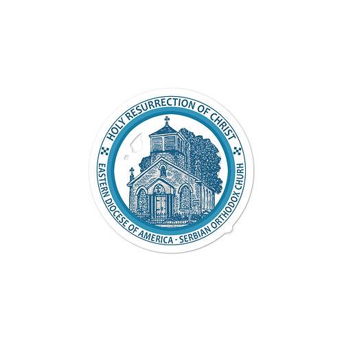 Bubble-free stickers Church Logo