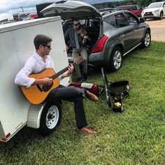 Mobile green room rehearsal #bluegrass #