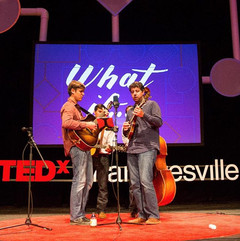 Great photo of us playing at TedX this p