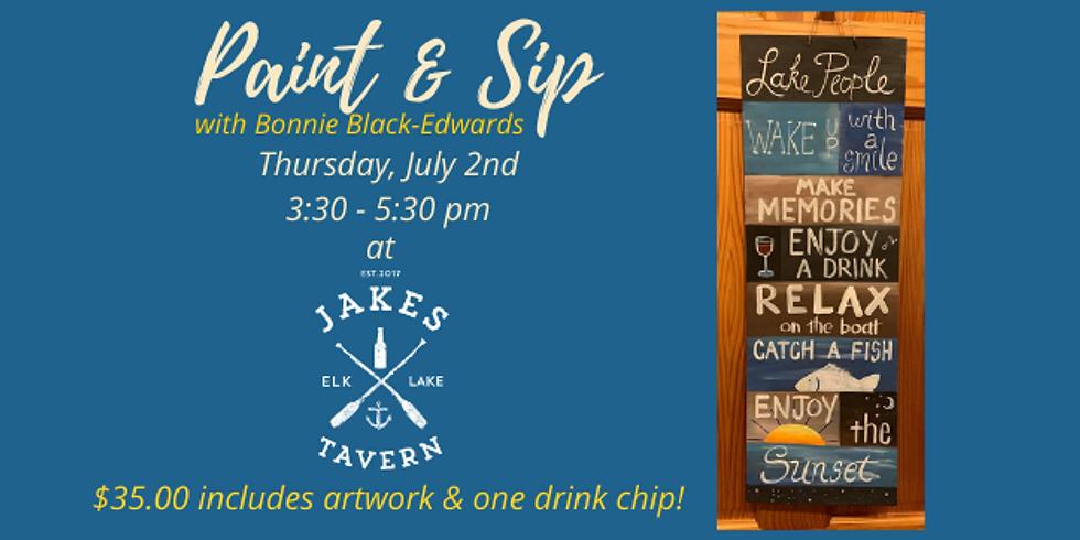 Paint & Sip with Bonnie Black Edwards