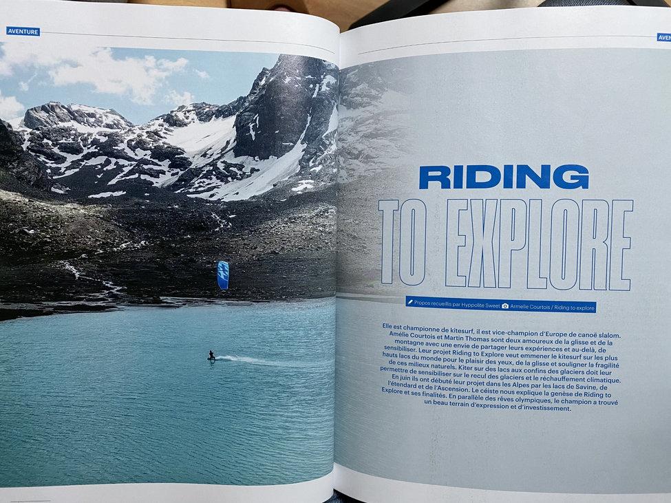 Article Canoe kayak magazine Riding to Explore Martin Thomas Armelle Courtois Kitesurf canoe kayak