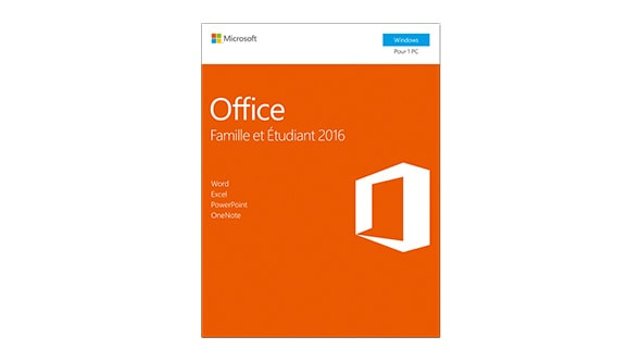 Office Famille & Etudiant 2016 (Word, Excel, PowerPoint, OneNote)