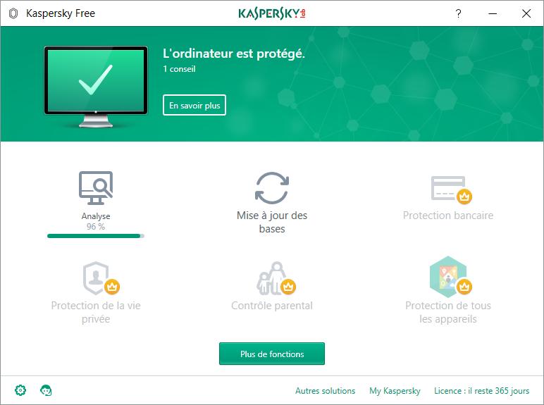 Kaspersky Free Antivirus gratuit