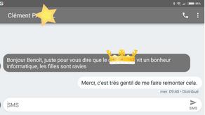 """Satisfaction d'un client - """"... bonheur informatique ..."""""""