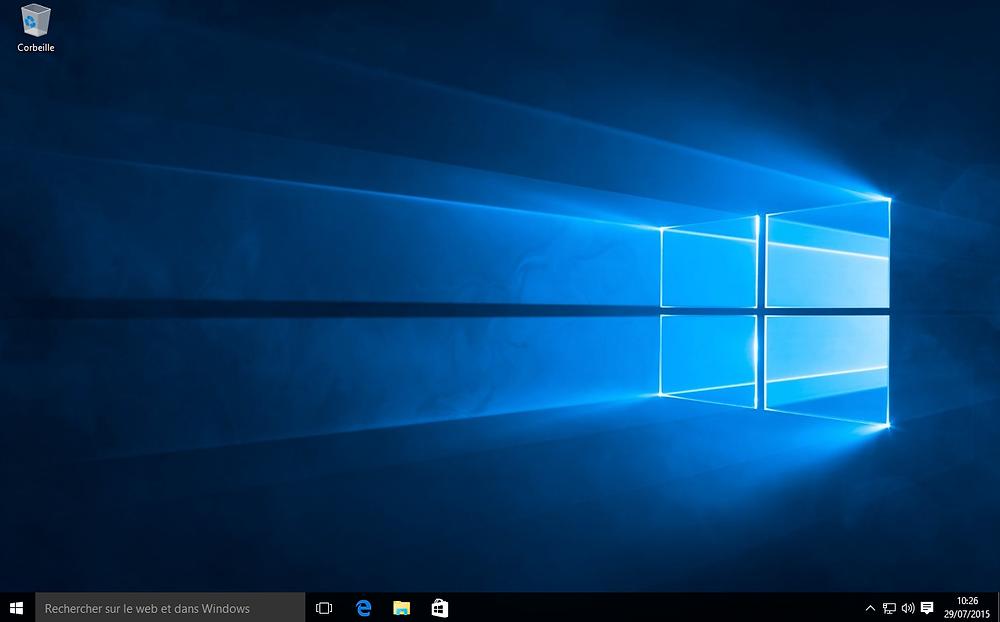 Bureau de Windows 10
