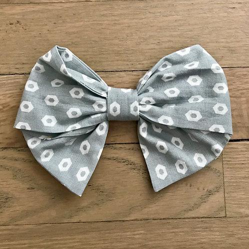 Hair Bows | Gray & White Geometric