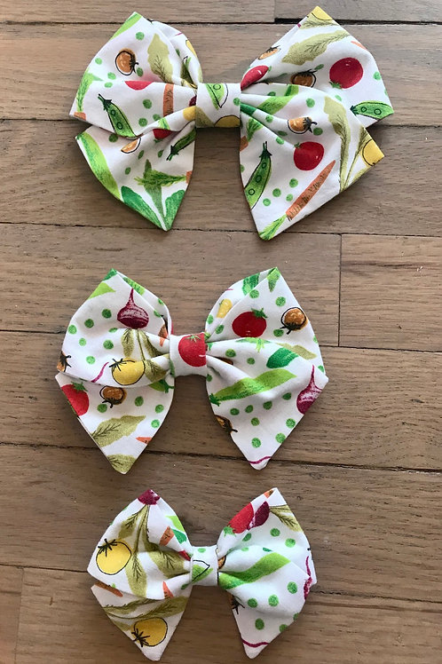 Hair Bows | Colorful Vegetable