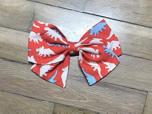 Hair Bows | Triceratops Red Dinosaur