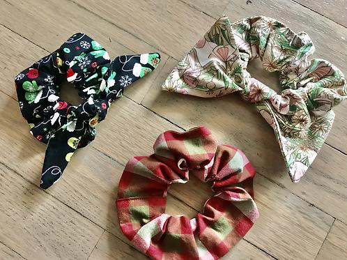 Lovely Winter Scrunchies Set