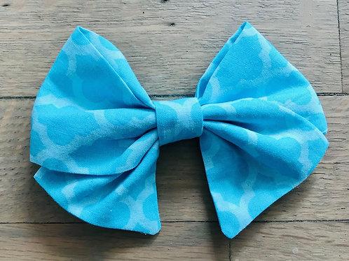 Blue Quatrefoil Bows
