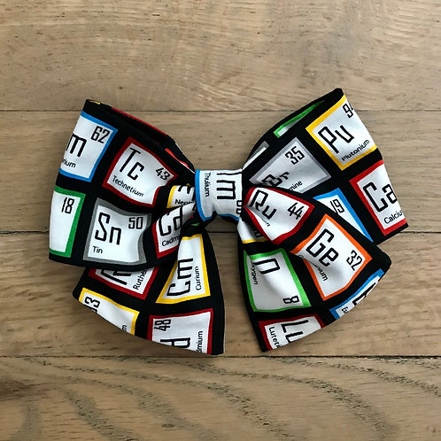 Hair Bows | S.T.E.M. Rainbow Periodic Table of Elements Chemistry