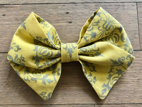 Sadie | Amy Butler Yellow & Gray Hair Bows