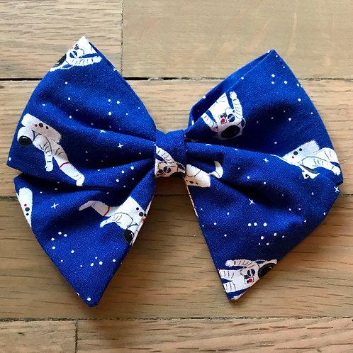 Hair Bows | Astronaut on Royal Blue Space