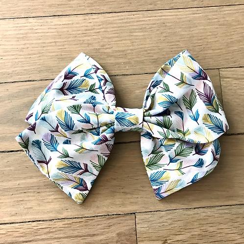 Hair Bows | Rainbow Feathers