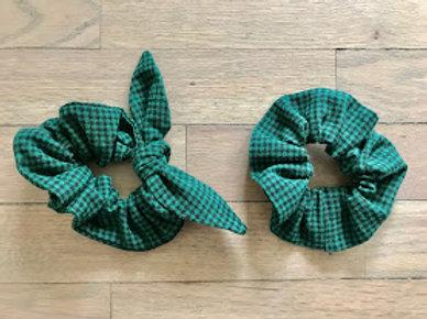 Scrunchies | Essential Black & Green Plaid