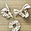 Thumbnail: Pink & White Plaid Floral Scrunchies