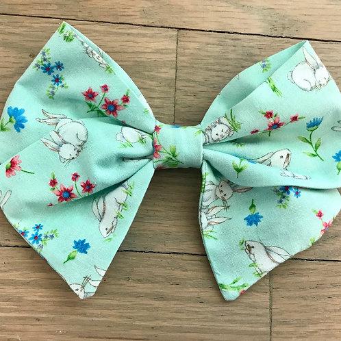 Sadie   Spring Bunny Floral Bows