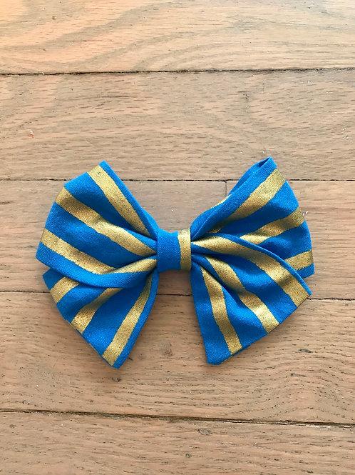 Hair Bows | Rifle Paper Co. Royal Blue & Gold Stripe