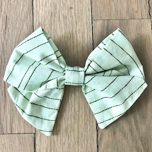 Hair Bows | Pale Green Dot & Dash