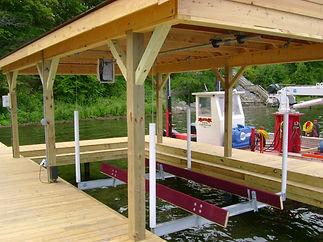 Boat Hoist Installation Keuka Lake