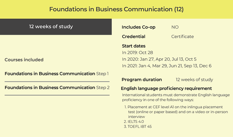 Business Communication certificate - Foundations