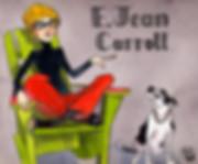 Silent james illustration of ELle advice columnist E Jean Carroll of Ask E Jean.
