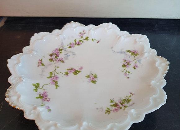 bord gekarteld met bloemetjes