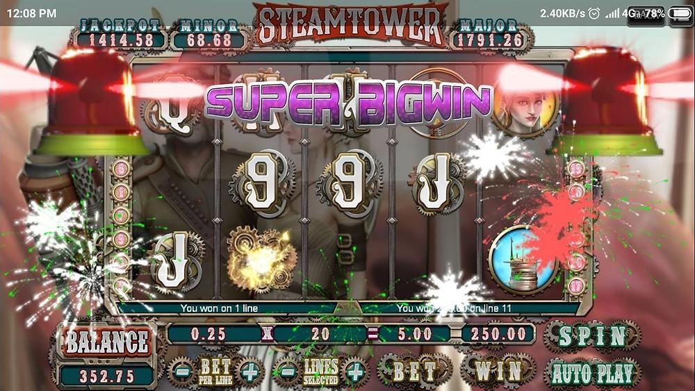 Steam Tower 918Kiss Plus