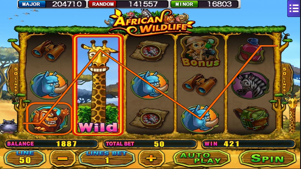 African Wildlife 918Kiss/SCR888