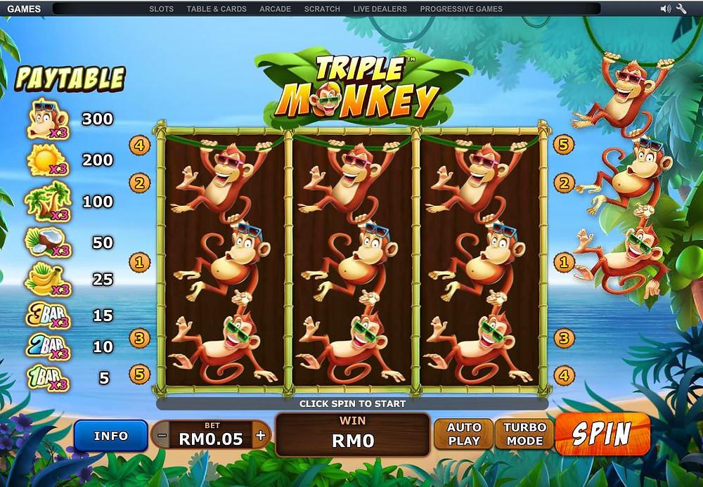 Xe88 Triple Monkey