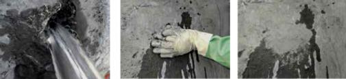 Остановка протекания воды в бетоне