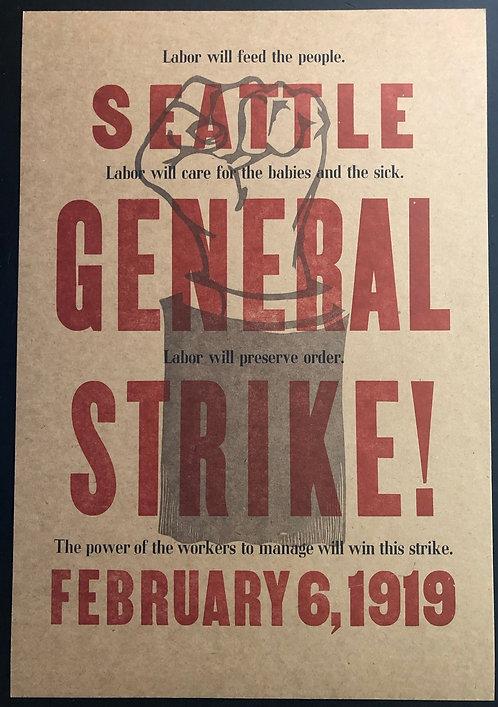 Seattle General Strike Poster