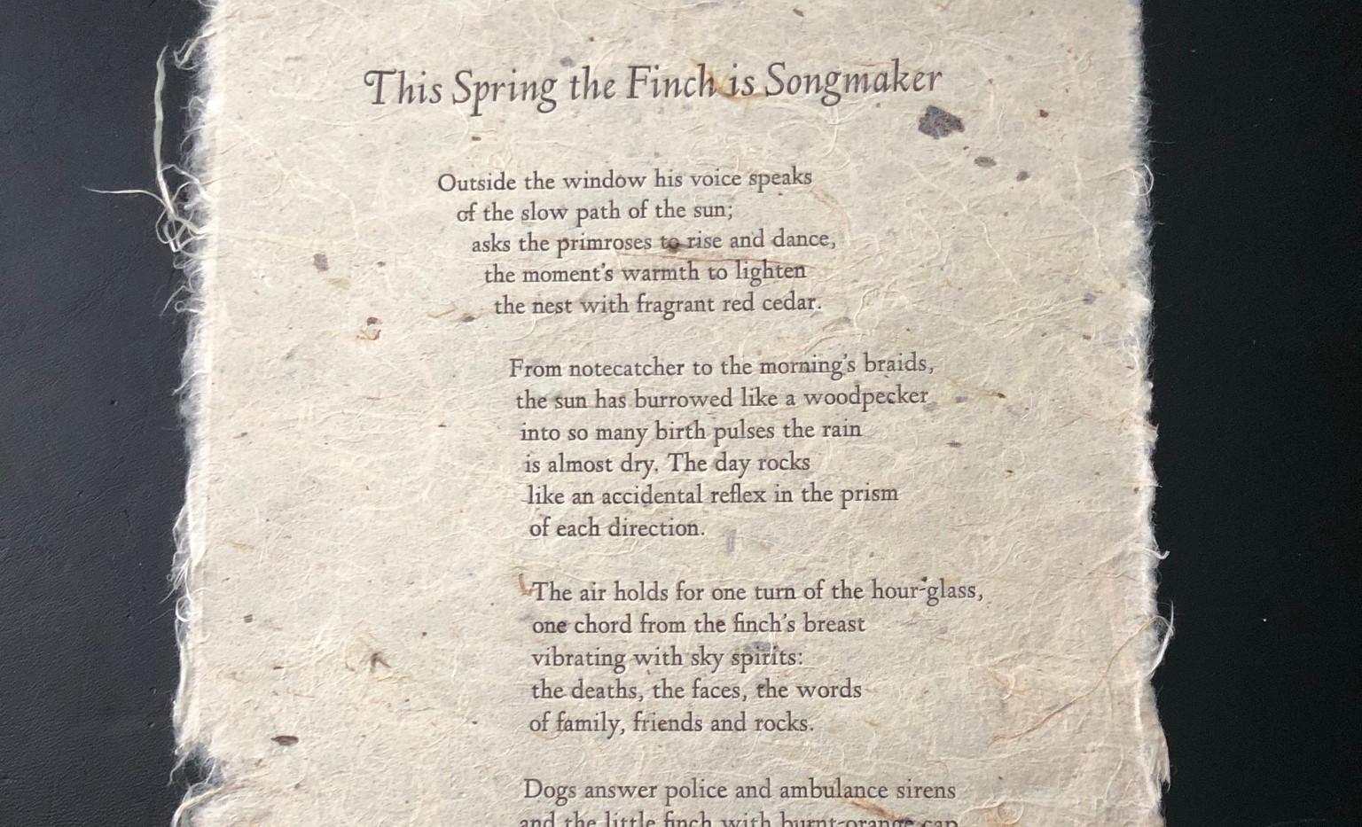 Duane Niatum poem keepsake