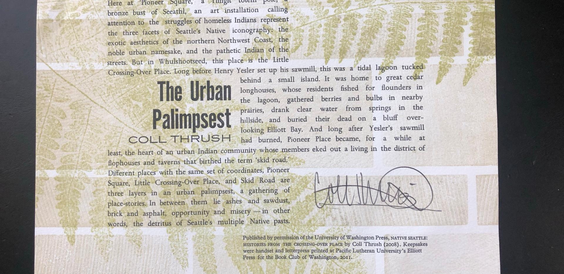 The Urban Palimpsest keepsake (2011)