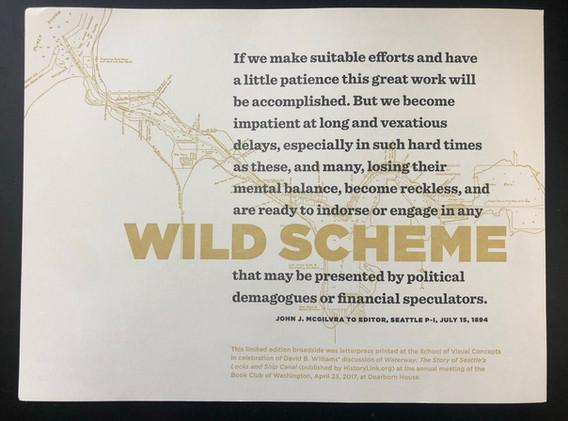 Wild Scheme keepsake (2017)